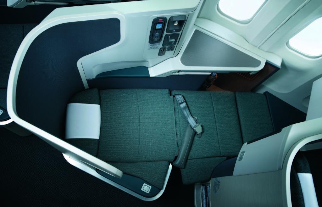 Reverse Herringbone Cathay Pacific as Bed