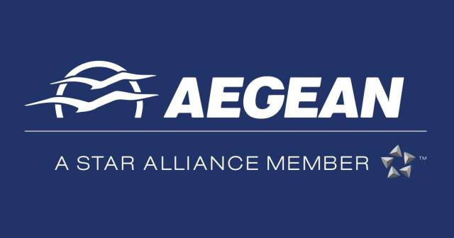 Aegean Airlines Logo - Star Alliance Member
