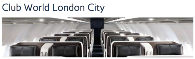 BA Club World out of LCY
