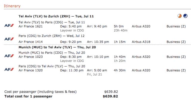 AF Summer Business Ticket