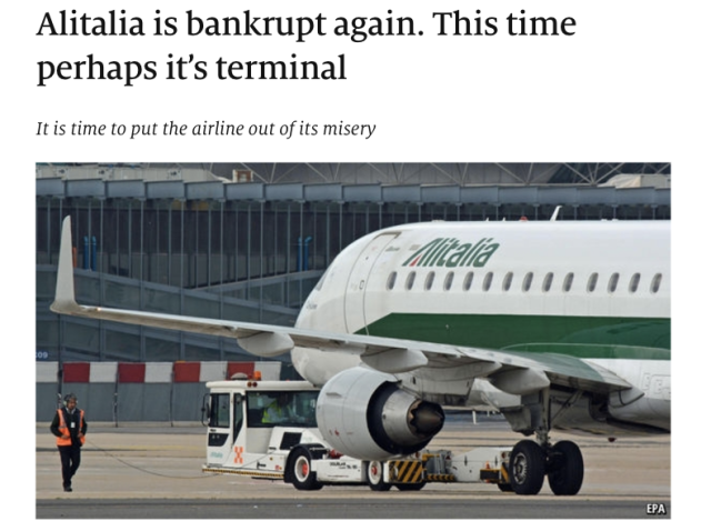 Economist says Alitalia is done
