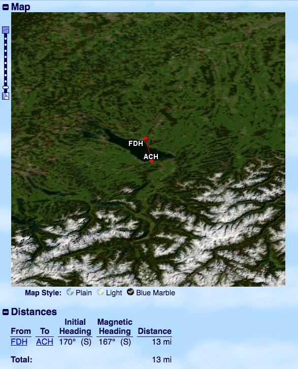 GCM Shortest International Flight