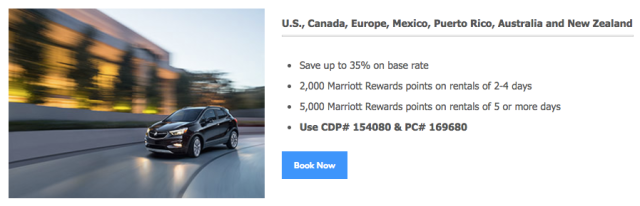 Hertz and Marriott Promotion