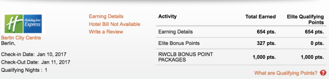 Stay Credit Showing 1K:Night Bonus