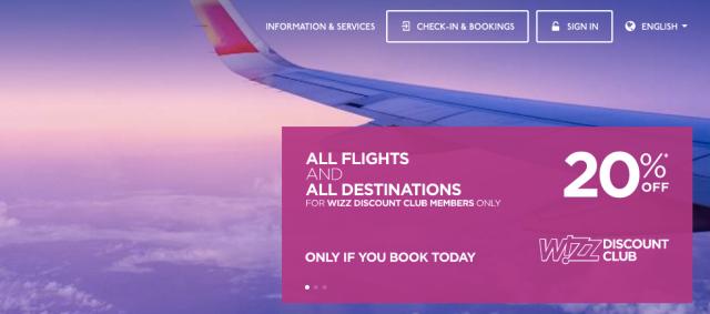 WizzAir 20% Off April 2017