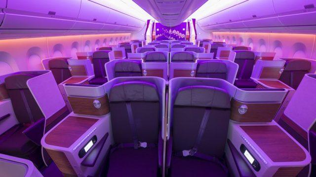 Thai Airways Airbus A350-9 Business Class Cabin