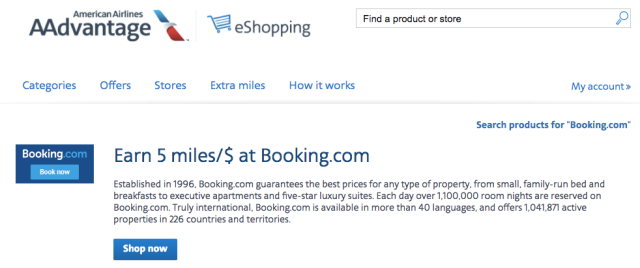 AA Miles with Booking.com