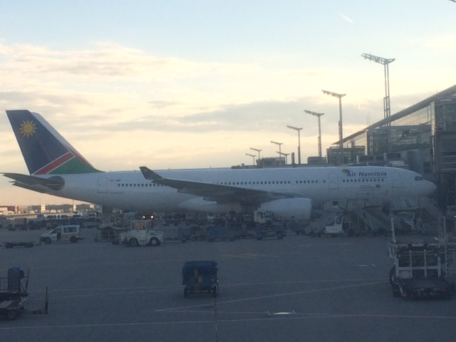Air Namibia Plane in Frankfurt