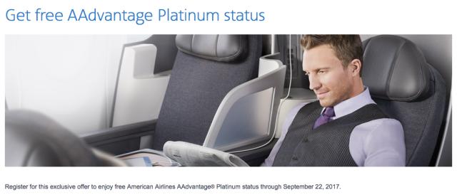Free AAdvantage Platinum Status