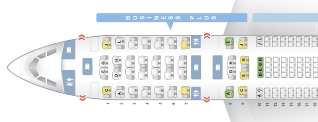 Iberia A330-300 Seatmap