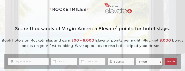 Rocketmiles Elevate Bonus