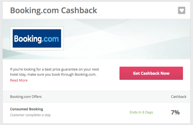 TCB Booking.com Cashback