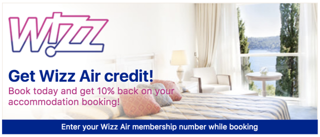 Wizz Credit with Booking.com 2