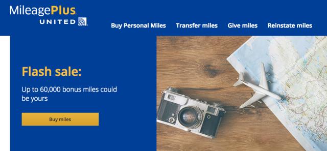 Buy UA Miles - July 17