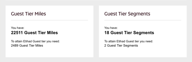 Etihad Guest Status Update July17