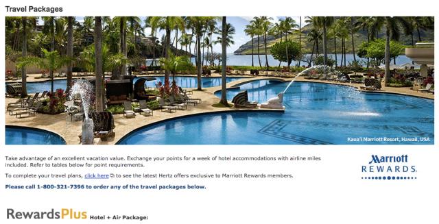 Marriott Rewards Travel Packages