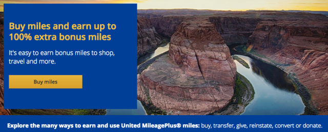 MileagePlus Buy Miles Promotion