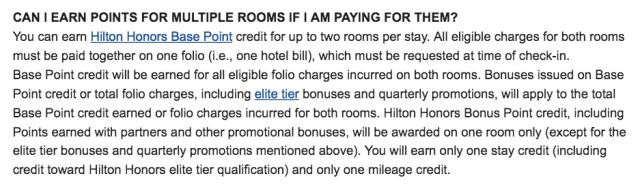 Multiple Room - Hilton FAQ