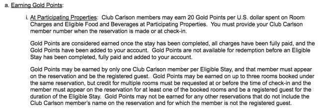 Multiple Rooms - Club Carlson T&C