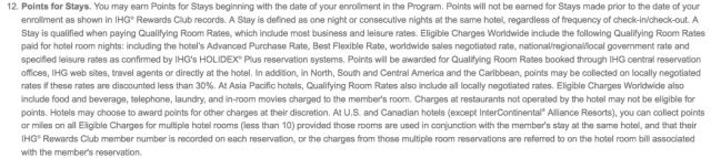 Multiple Rooms - IHGR T&C