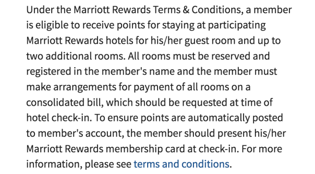 Multiple Rooms - Marriott FAQ