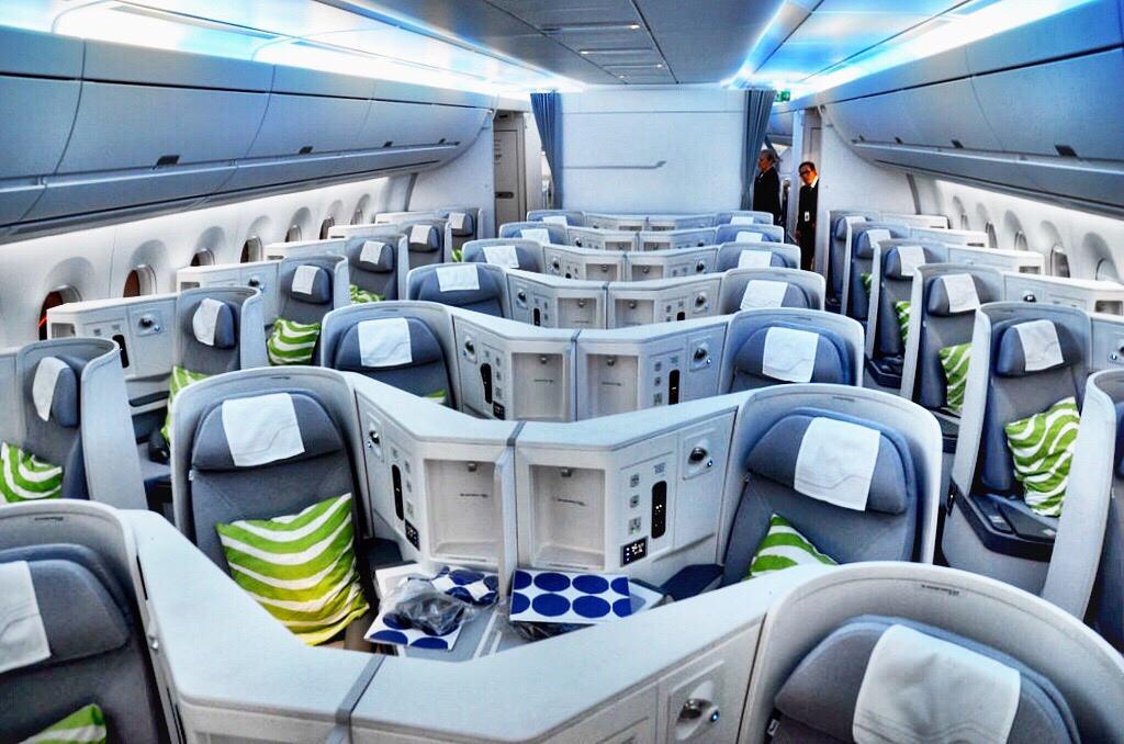 Finnair A359 Business Class Cabin