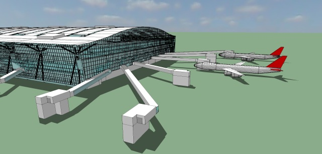 London Heathrow T5 Illustration