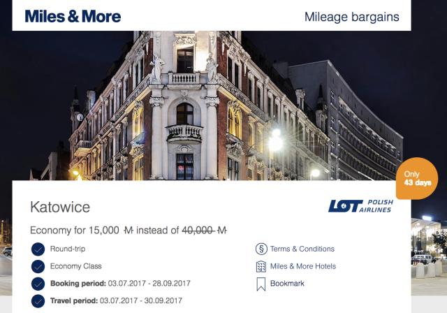 MileageBargains TLV to KTW