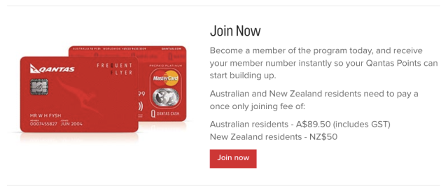 Qantas FF Pay to Join