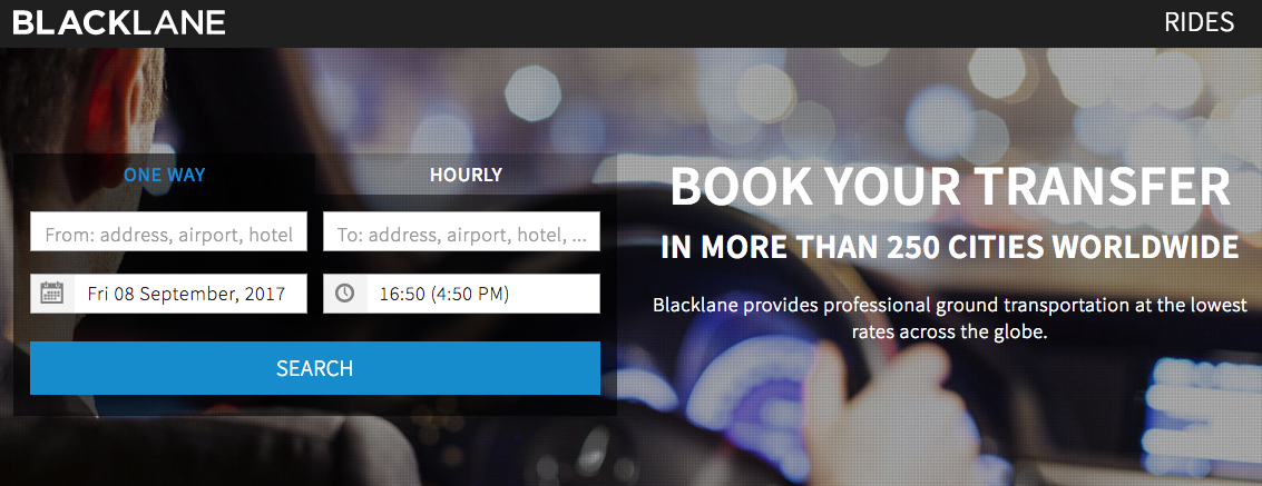 Blacklane Homepage