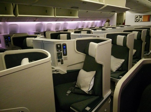 Cathay 77W Business Class Cabin