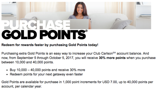 Club Carlson Buy Points - Sep17