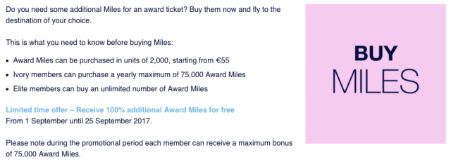 FlyingBlue Buy Miles - Sep17
