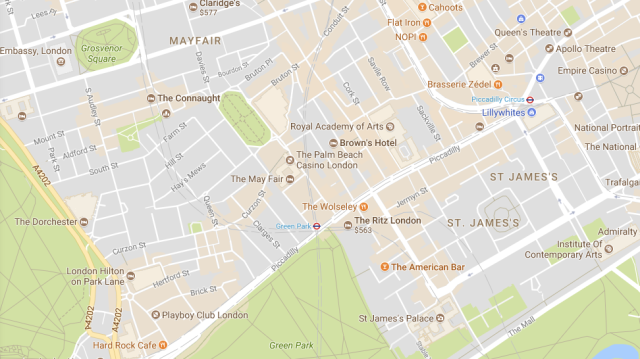 Map of Mayfair London