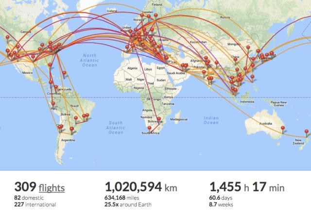 My FlightRadar24 Map - Septembe17