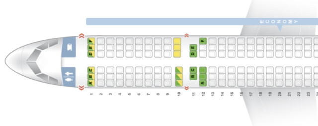Wizzair A321 Seatmap