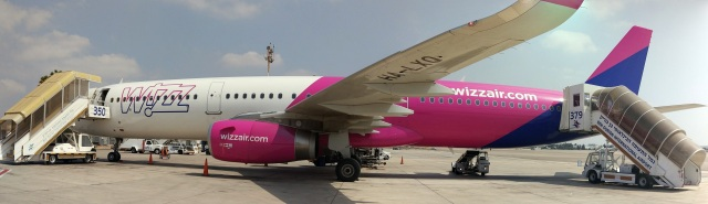 Wizzair Plane on the Ground