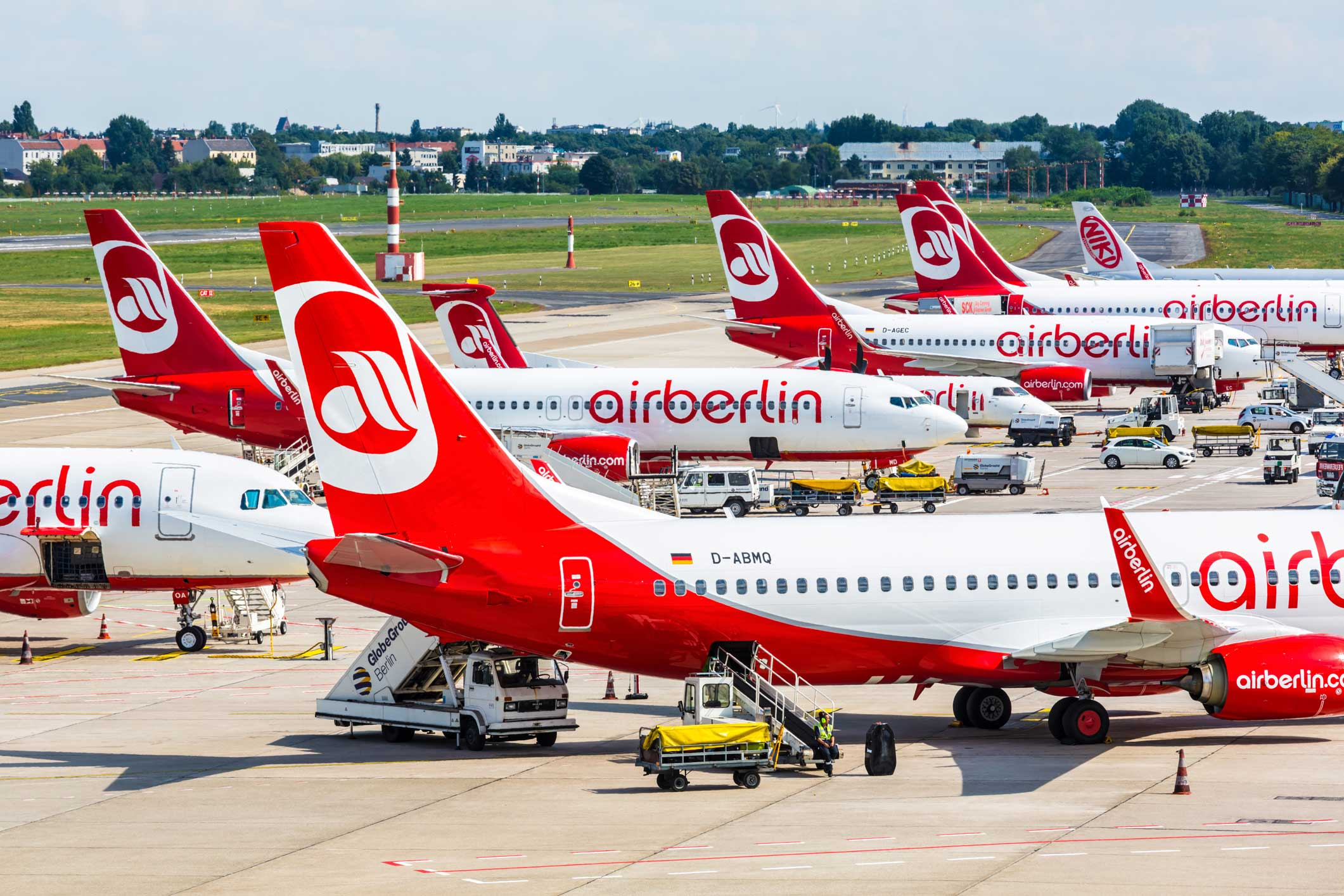 Air Berlin Planes on the Ground