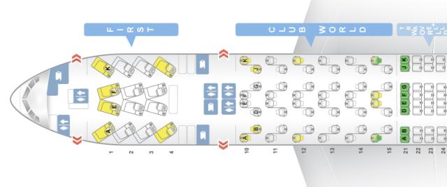 BA 777-200ER Seat Map