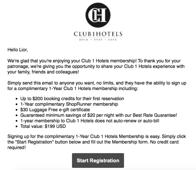 C1H New Signup Offer