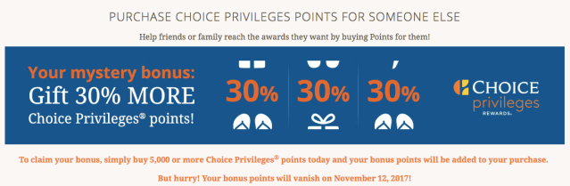 Choice Privileges Buy Points 2