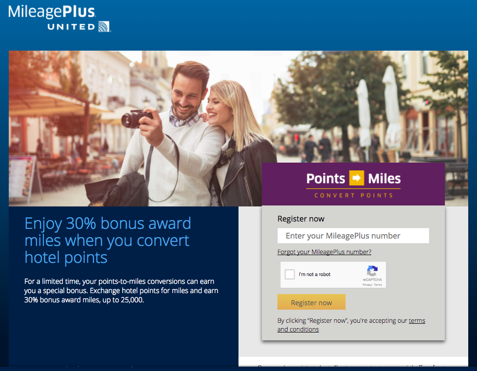Convert Hotel Points to United Miles