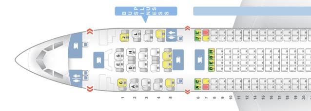 Iberia A330-200 Seatmap