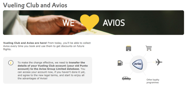 Vueling and Avios