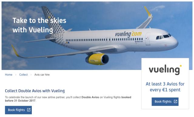 Vueling Double Avios