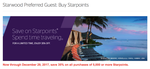 SPG Buy Points - November 2017