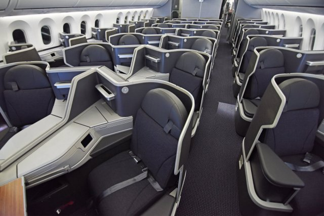 American 787-9 Business Class