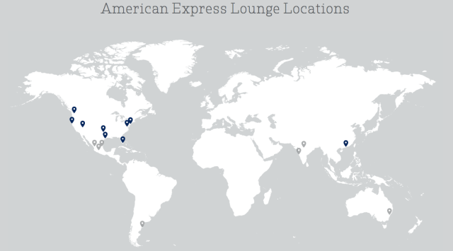 Amex Lounges Locations