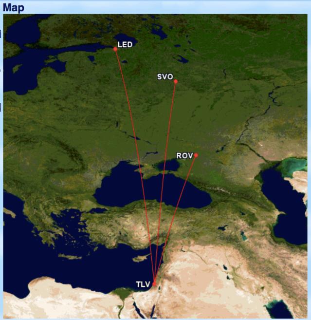 GCM Aeroflot TLV Routes
