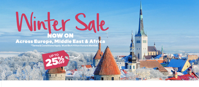 Hilton 25% in Europe - Winter 2018